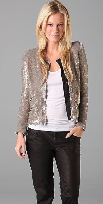 IRO Yulli Sequin Moto Jacket