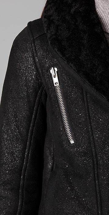 IRO Vilma Shearling Leather Jacket