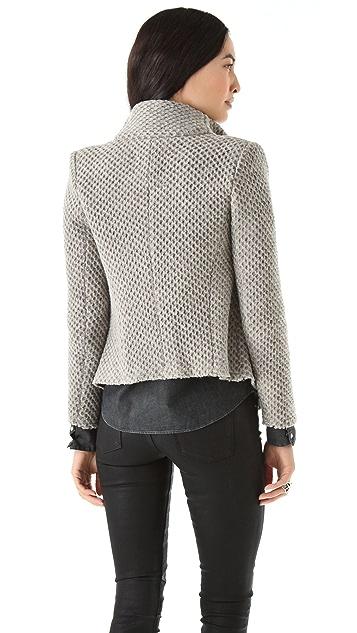 IRO Kristen Honeycomb Moto Jacket