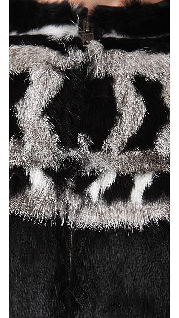 IRO Lorna Rabbit Fur Coat