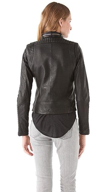 IRO Adama Leather Zip Jacket