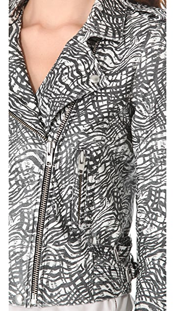 IRO Jeff Printed Leather Jacket