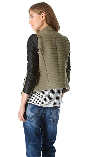 IRO Mulen Ribbed Combo Jacket