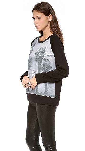 IRO Audra Palm Tree Sweatshirt