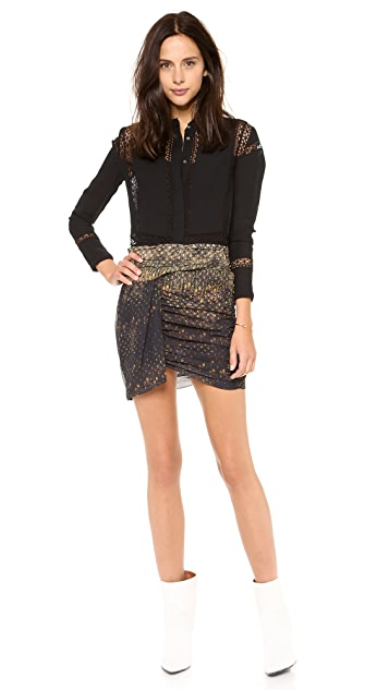IRO Sanaly Print Miniskirt