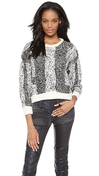 IRO Dorita Cabled Crop Sweater