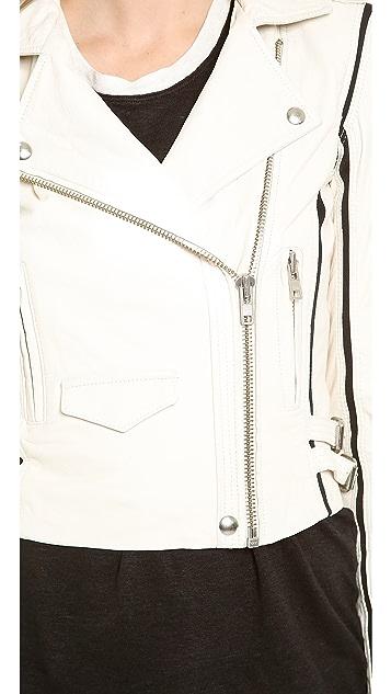 IRO Ashvie Leather Moto Jacket