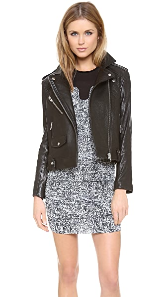 IRO Ebeyna Leather Moto Jacket