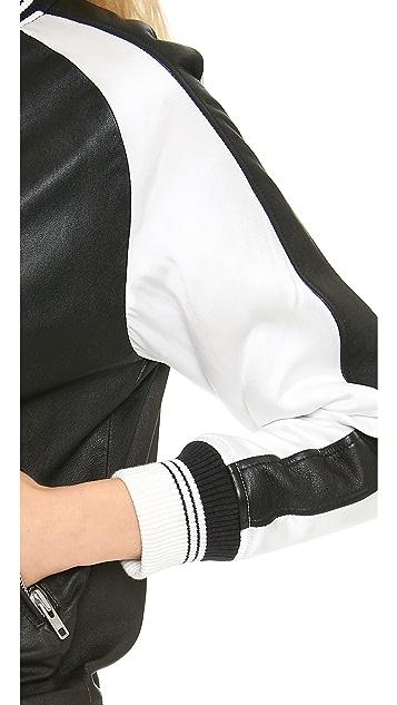 IRO Falia Leather Bomber Jacket