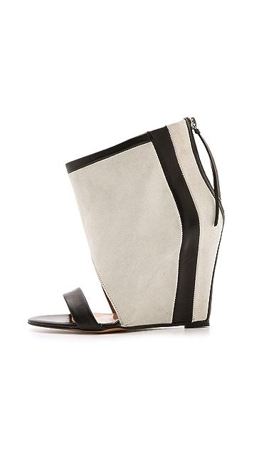 IRO Sattley Contrast Wedge Sandals