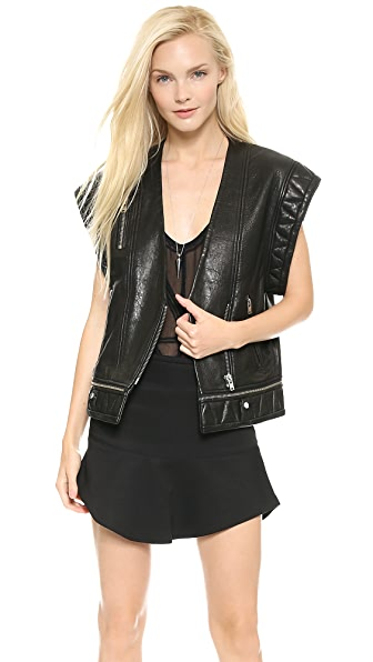 IRO Jacy Quilted Leather Vest