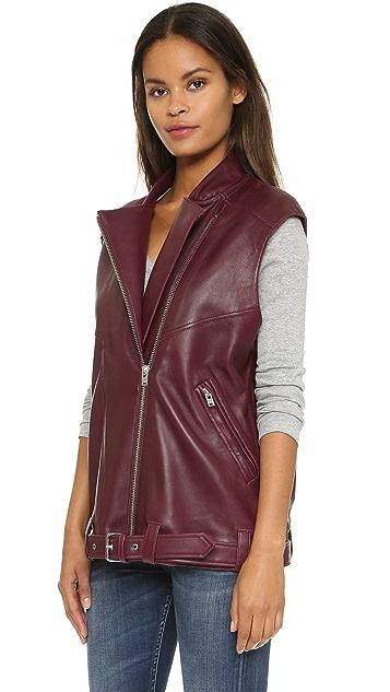 IRO Abrega Leather Vest