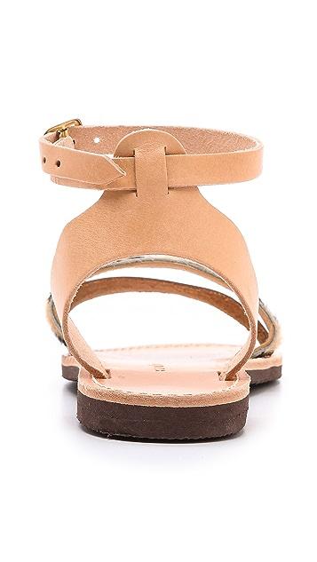 ISAPERA Ilianthos Mixed Media Sandals