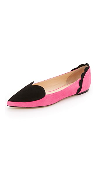 Isa Tapia Clement Suede Heart Flats - Stardust