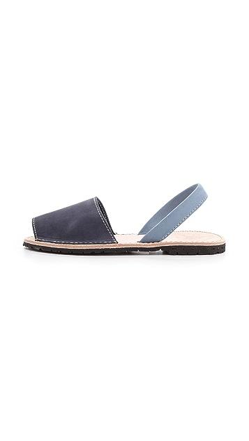 ISHVARA Albarcas Two Tone Sandals