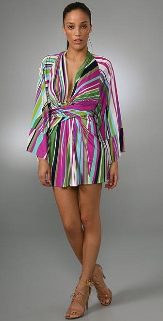 ISSA Print Kimono Dress