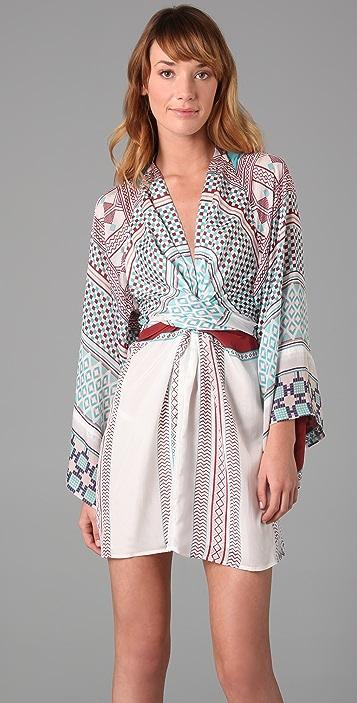 ISSA Short Kimono Dress