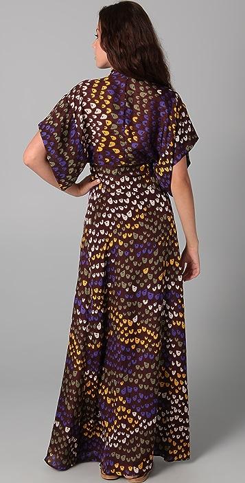 ISSA Printed Long Kimono Dress