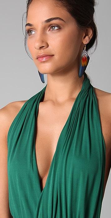 ISSA Long Halter Dress