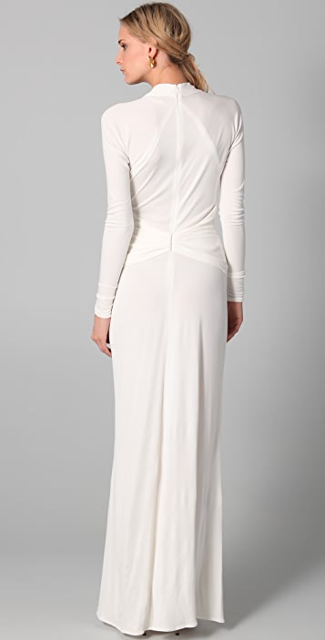 ISSA Long Sleeve Open Back Gown