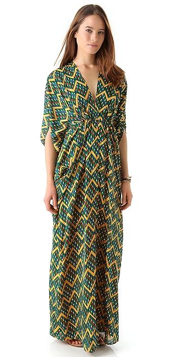 ISSA Chiffon Caftan Maxi Dress