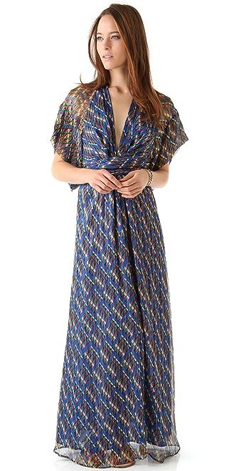 ISSA Chiffon Kimono Maxi Dress