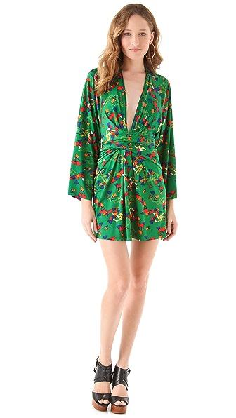 ISSA Printed Short Kimono Dress