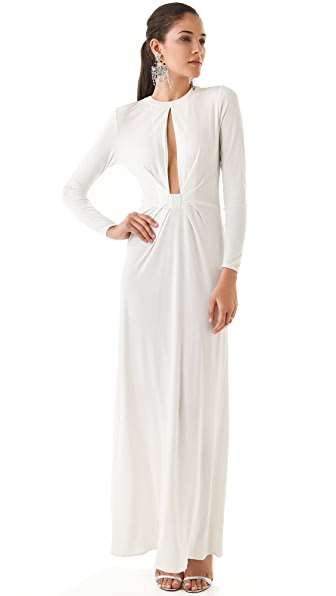 ISSA Slit Front Maxi Dress