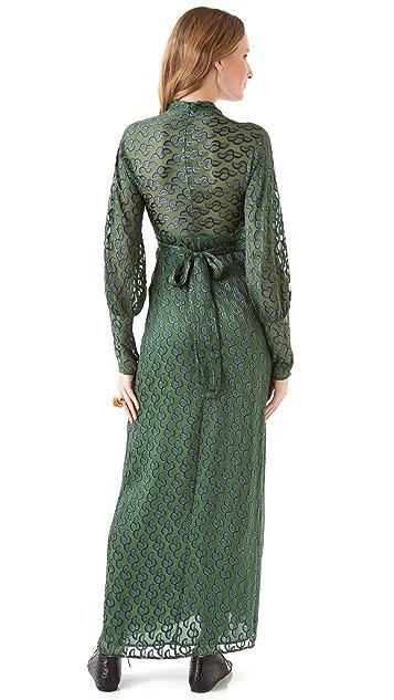 ISSA Wrap Dress with Jersey Cuffs