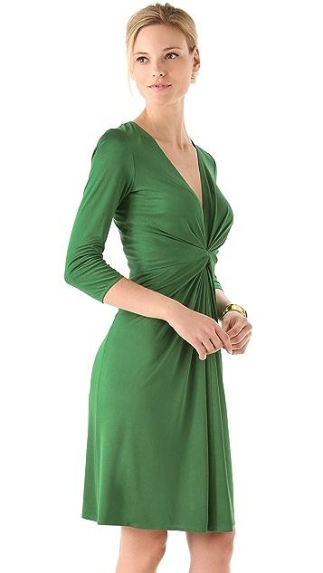 ISSA Long Sleeve V Neck Dress