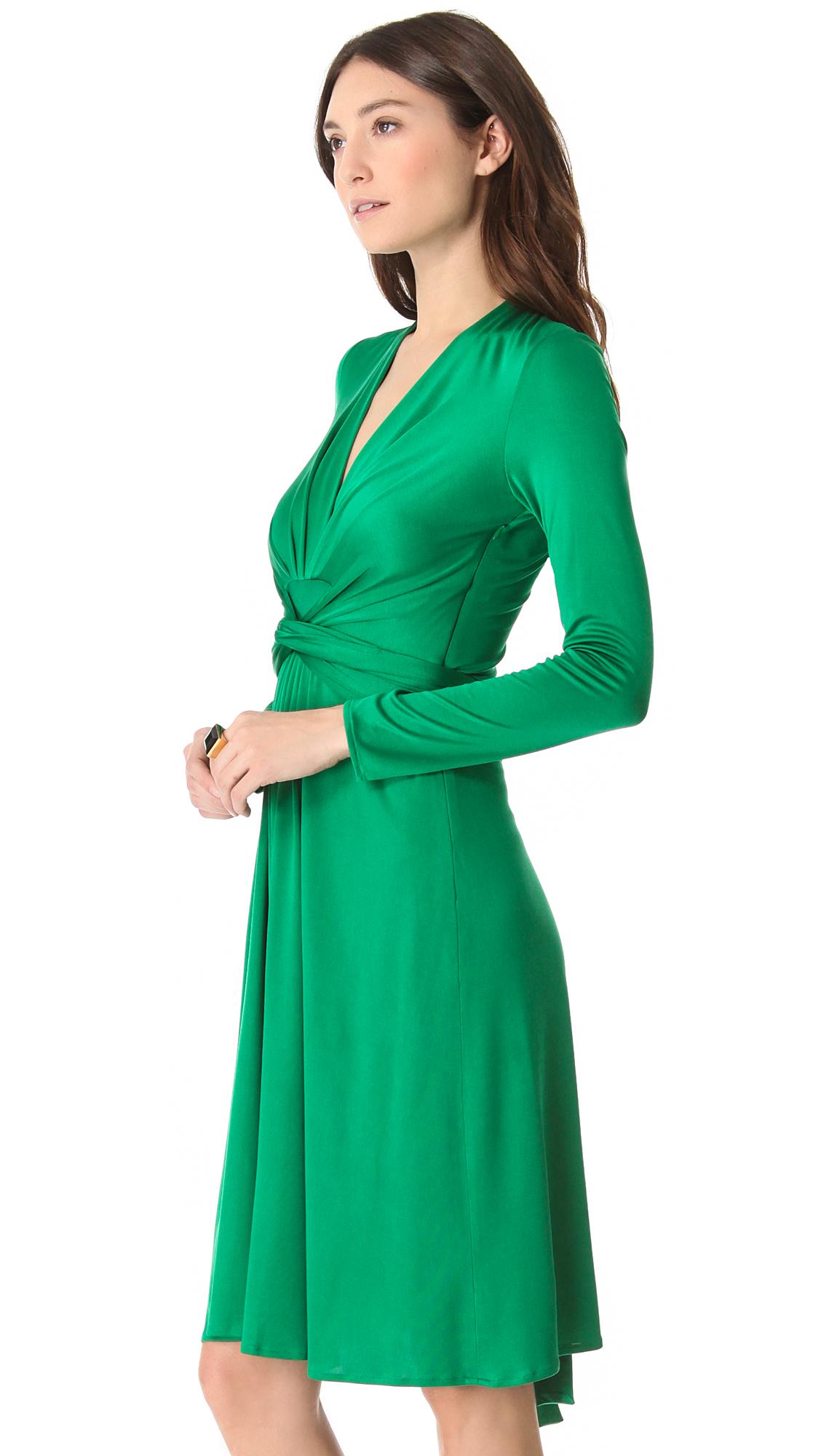 ISSA Long Sleeve Wrap Dress   SHOPBOP