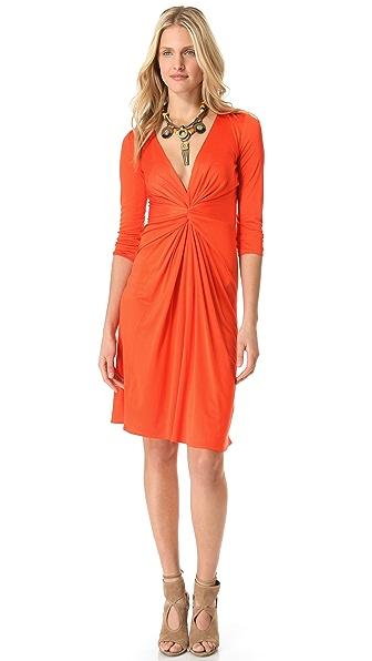 ISSA V Neck 3/4 Sleeve Dress