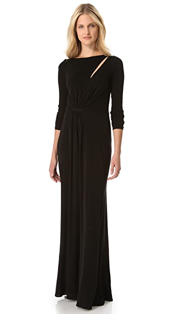 ISSA Long Sleeve Cutout Gown