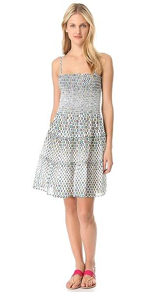 ISSA Sleeveless Cotton Voile Dress