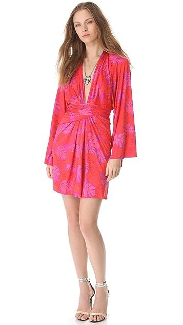 ISSA Long Sleeve Kimono Dress