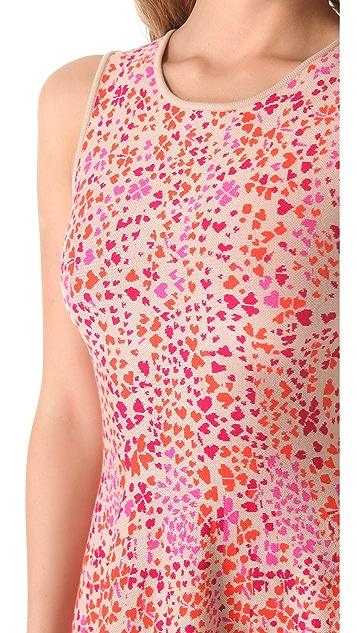 ISSA Heart Print Dress