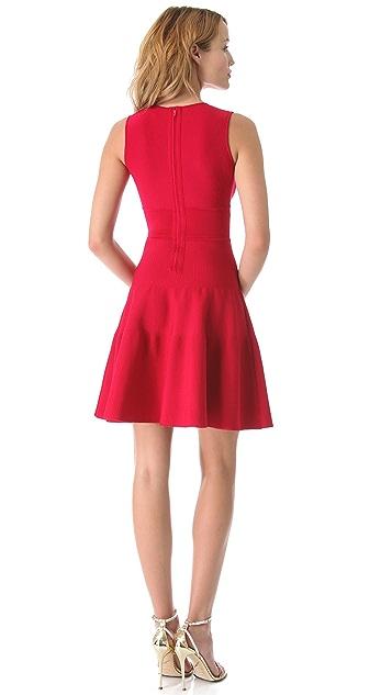 ISSA Ribbed V Neck Flirty Dress