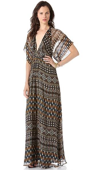 ISSA Short Sleeve Wrap Dress