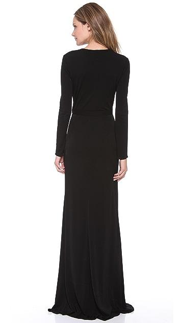 ISSA Long Sleeve V Dress