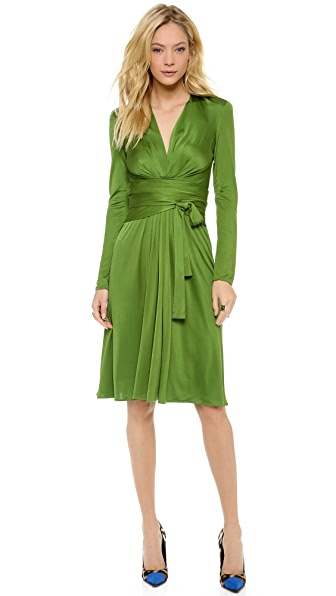 ISSA V Neck Front Wrap Dress