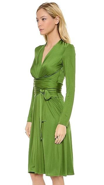 ISSA V Neck Front Wrap Dress