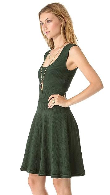 ISSA Ribbed Scoop Neck Dress