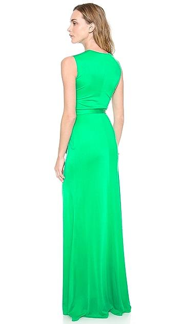 ISSA V Neck Maxi Dress