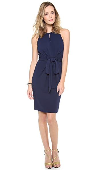 ISSA Sleeveless Tie Front Dress