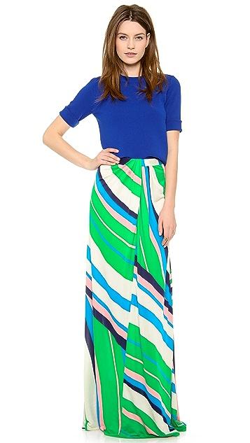 ISSA Printed Maxi Skirt