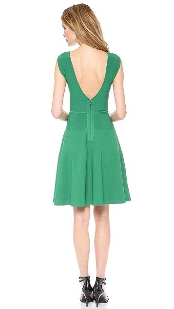 ISSA Rayon Rib Sleeveless Dress