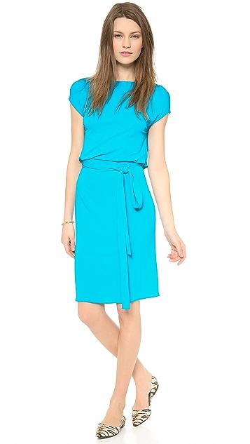 ISSA Drawstring Low Back Dress