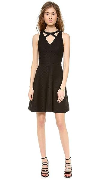ISSA Cutout Neck Dress