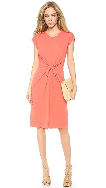 ISSA Cap Sleeve Knot Front Dress