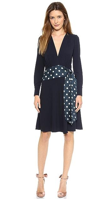 ISSA Bea V Neck Jersey Dress